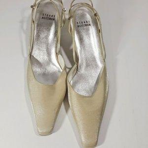 Stuart Weitzman Cream Sling Back Dress Shoes 8.5N